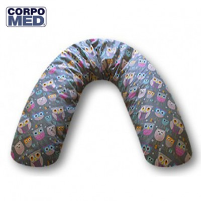 Coussin CORPOMED + Housse Chouettes Emma