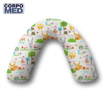 Coussin CORPOMED + Housse Animaux forêt