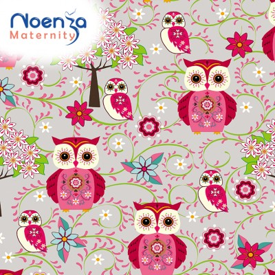 Housse Noenza Maternity Léa Chouettes 100% COTON OEKOTEX