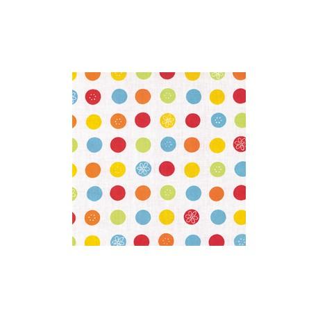 Housse CORPOMED Points multicolores pour coussin d'allaitement