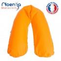 Coussin d'allaitement Noenza + Housse Yoni Orange