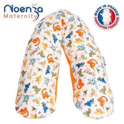 Coussin d'allaitement Noenza + Housse Yoni Orange 100% COTON OEKOTEX