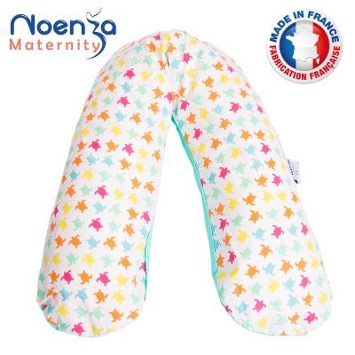 Coussin d'allaitement NOENZA + housse Noe 100% COTON OEKOTEX
