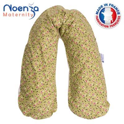 Coussin d'allaitement NOENZA + Housse Jade 100% COTON OEKOTEX