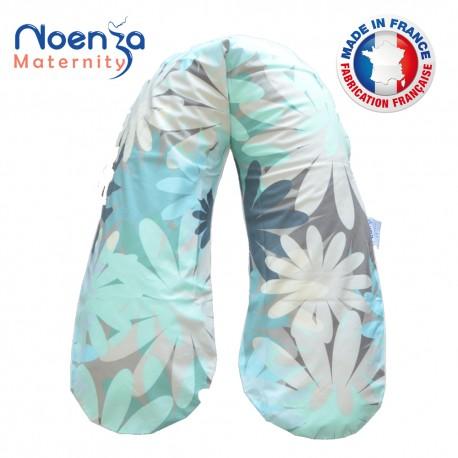 Coussin d'allaitement Noenza + Housse AYA Beige Multicolor 100% COTON OEKOTEX