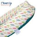 Coussin d'allaitement Noenza + Housse JOE Vert Anis hiboux multicolore 100% COTON OEKOTEX